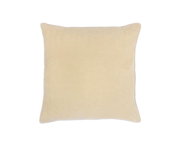 Medina Staple Velvet Square Cushion - Sand