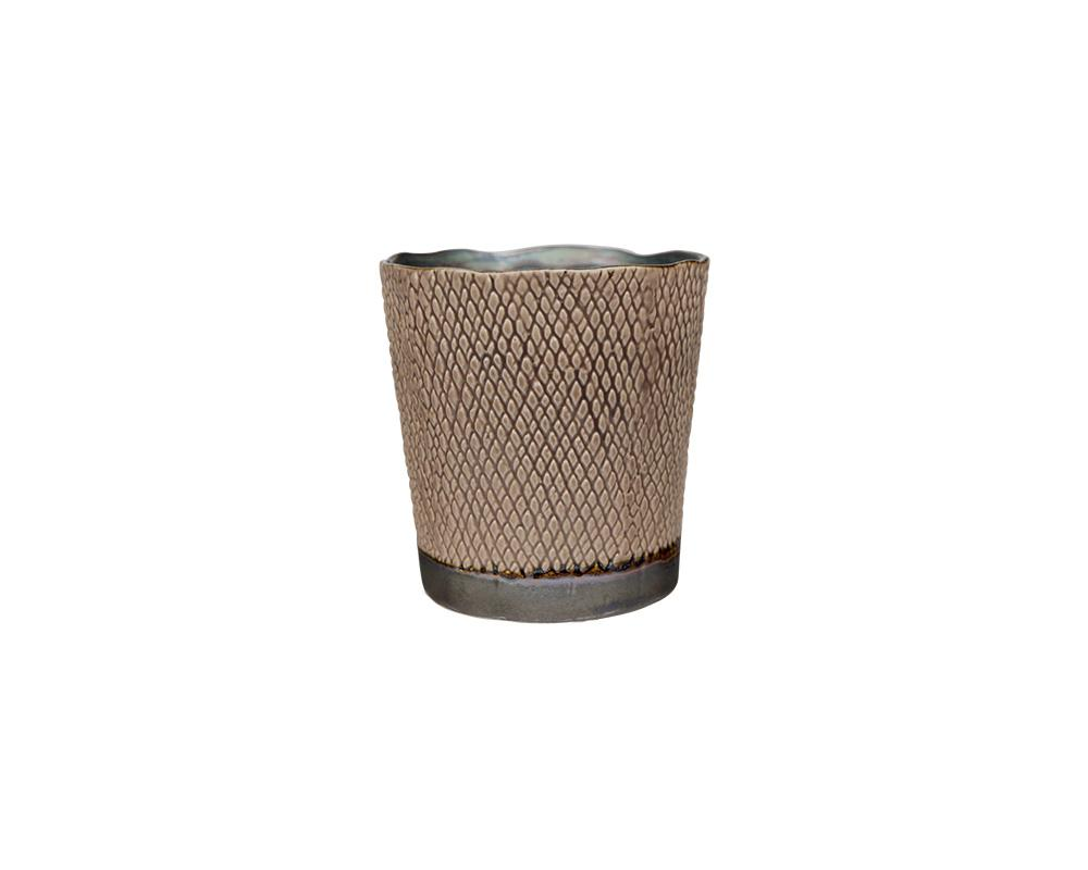Potterie Textured Pot - Taupe