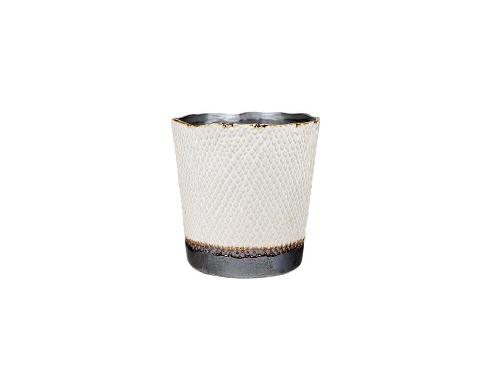 Potterie Textured Pot - White