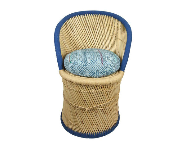 Limited Edition Pampas Chair with Cushion - Blue 4/6