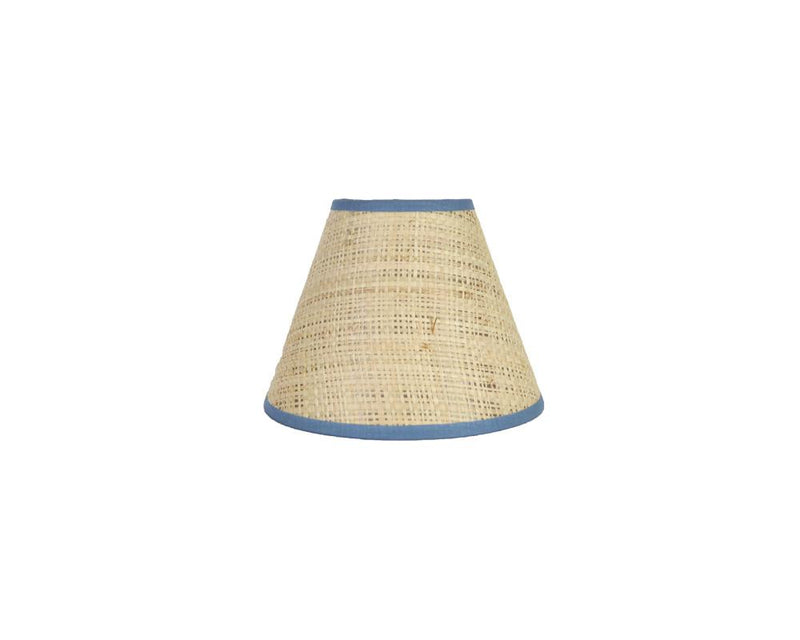 Seema Raffia Candle Lampshade - Blue