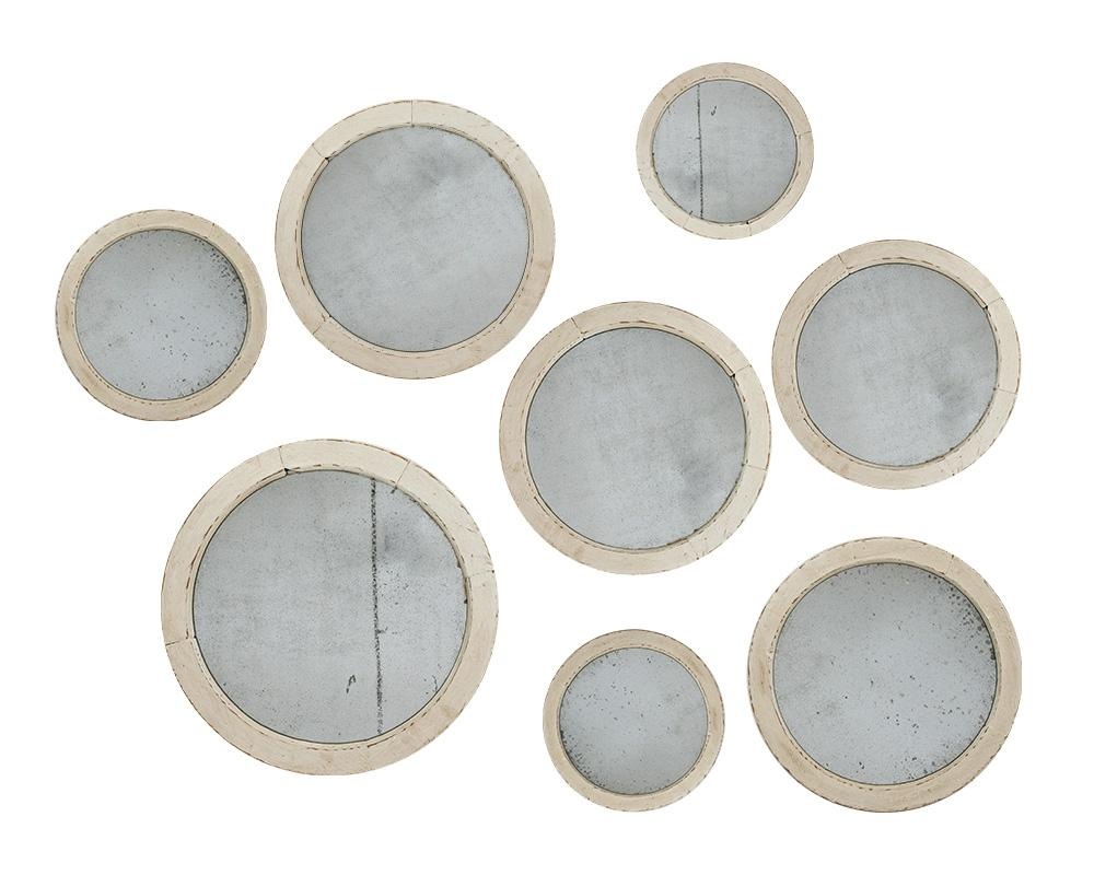 An Assortment of 20th Century French Circular Mirrors
