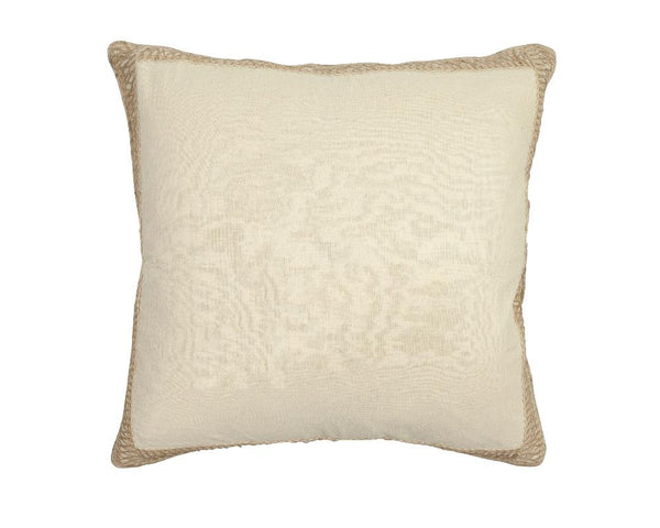 Limited Edition Silk Khadi Cushion with Jute Trim  - II