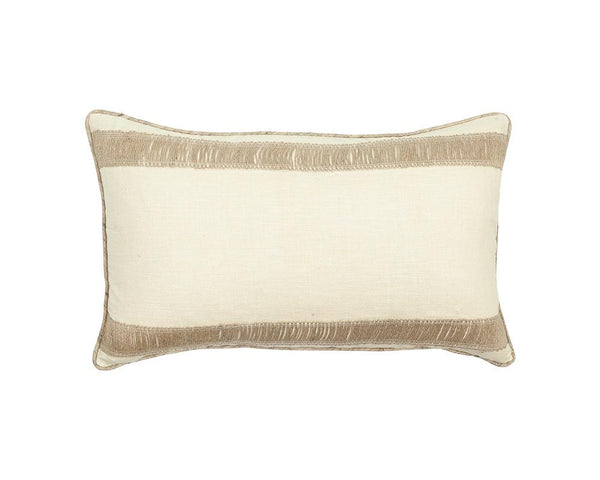 Limited Edition Silk Khadi Cushion with Jute Trim  - IV