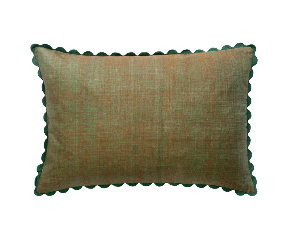 Limited Edition Silk Mel Khadi Cushion - Khaki