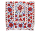 suzani bedspread throw in blue green and red
