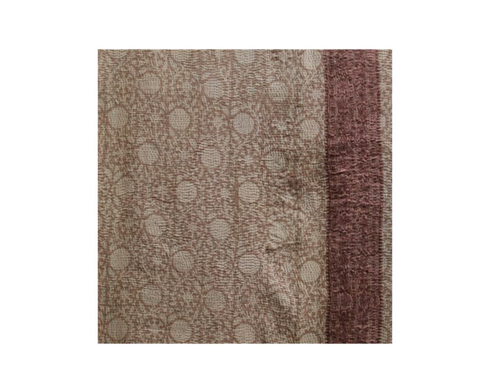 Limited Edition Vintage Kantha Throw - Taupe 2/10