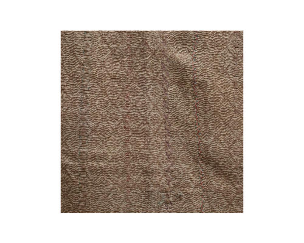 Limited Edition Vintage Kantha Throw - Taupe 4/10