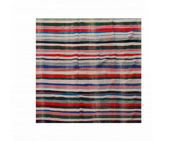 Limited Edition Turkish Striped Kilim Rug VII