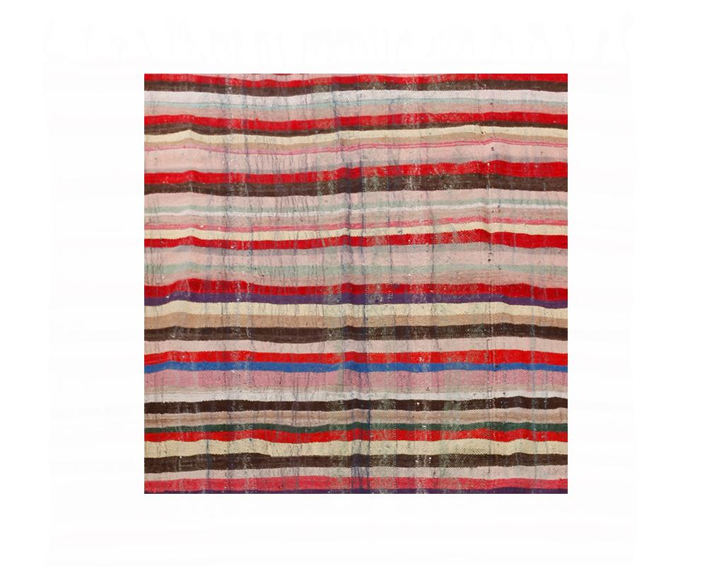 Limited Edition Turkish Striped Kilim Rug X - Second