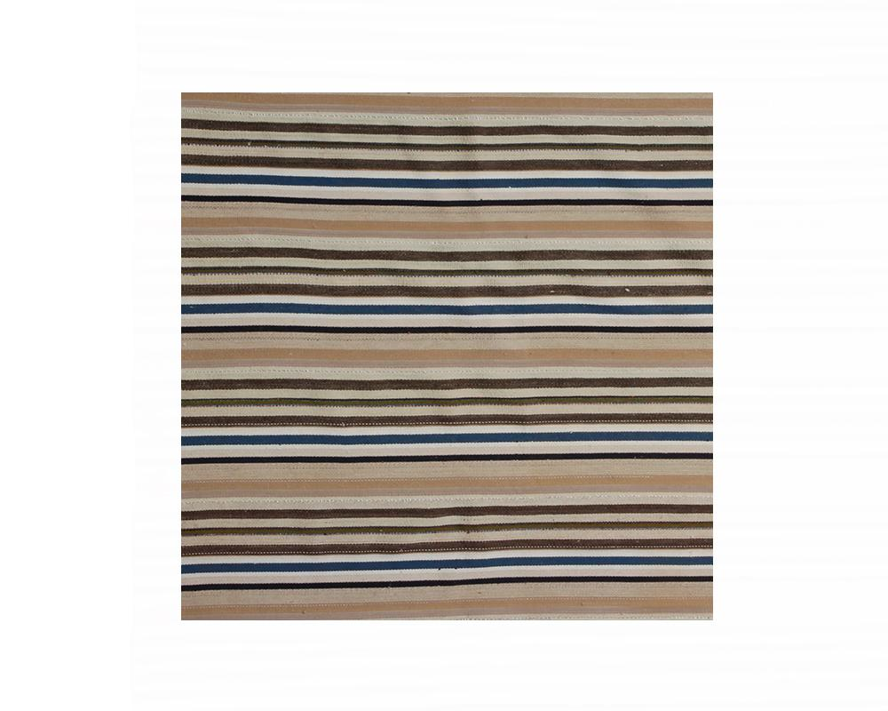 Limited Edition Turkish Striped Kilim Rug III