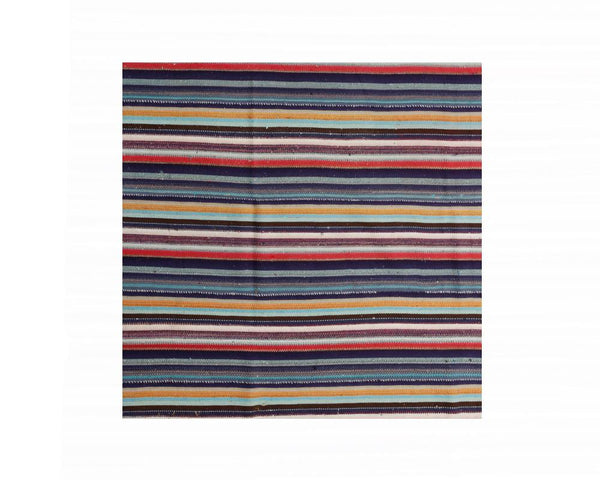 Limited Edition Turkish Striped Kilim Rug V
