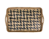 Geometric Woven Tray - Blue - Available Early-June