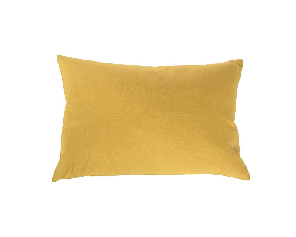 Plain Rectangular Cushion - Yellow