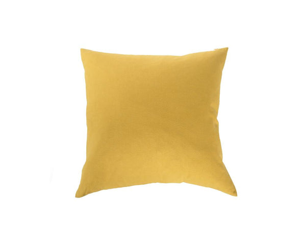 Plain Square Cushion - Yellow