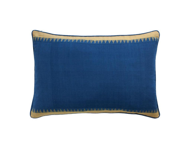 Limited Edition Midnight Tooth Border Khadi Cushion - Large