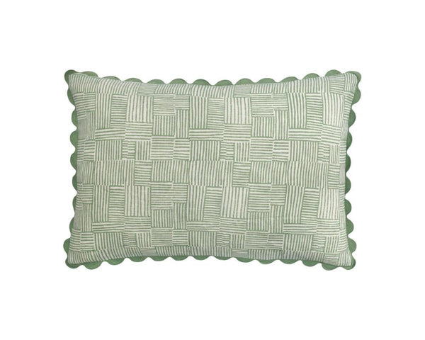 Crosshatch Cushion - Vetiver