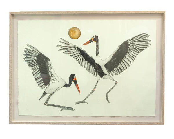 Bea Forshall - Saddle Billed Storks