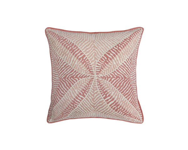 Bengali Embroidered Cushion - Rose