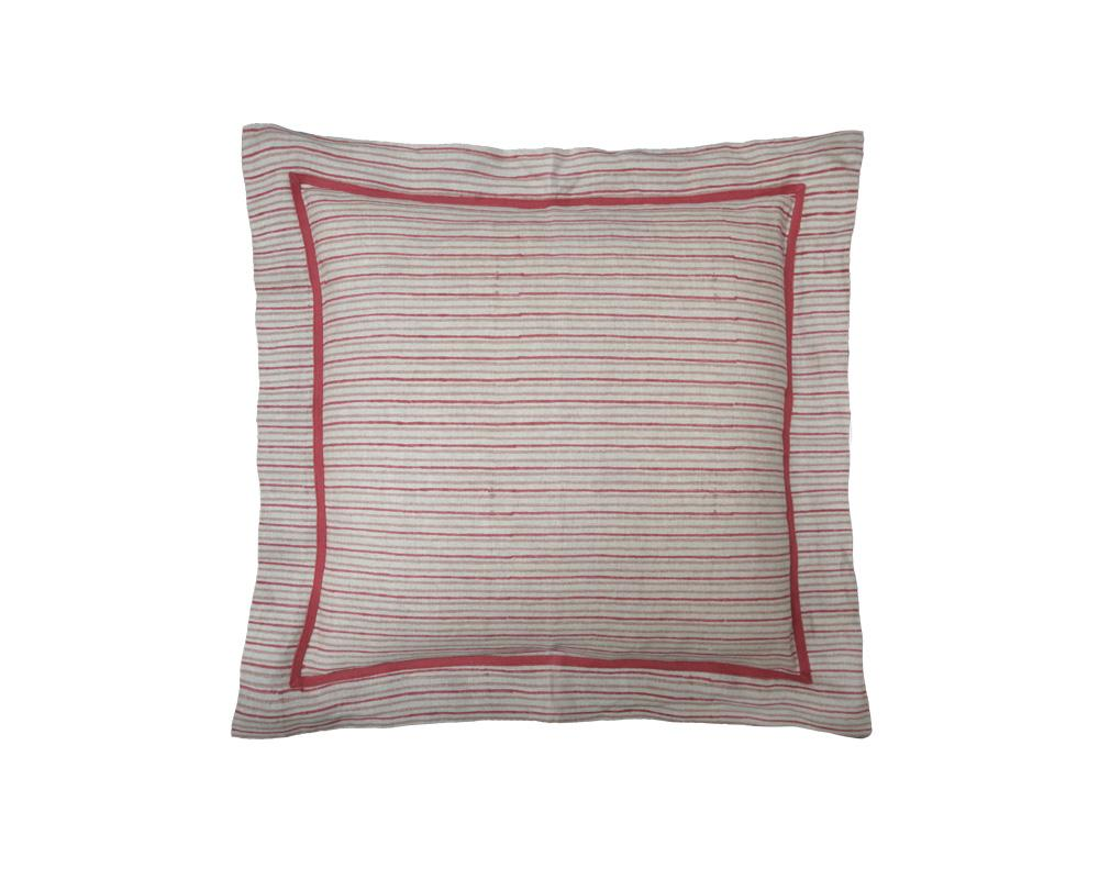 Chowa Stripe Cushion - Merlot