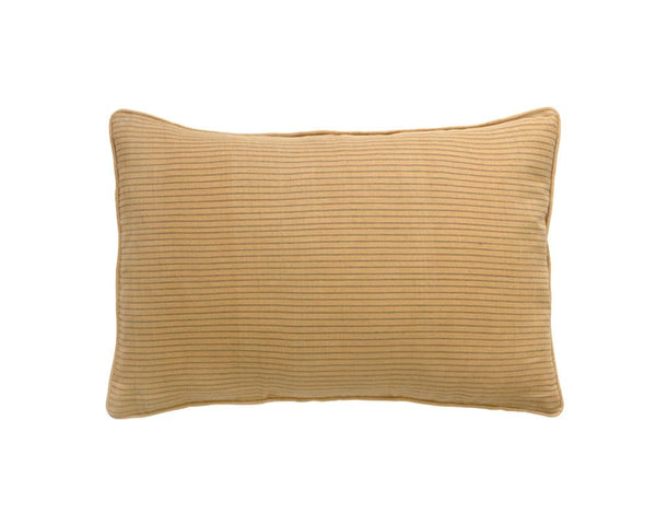 Limited Edition Ochre Stripe Khadi Cushion - Large