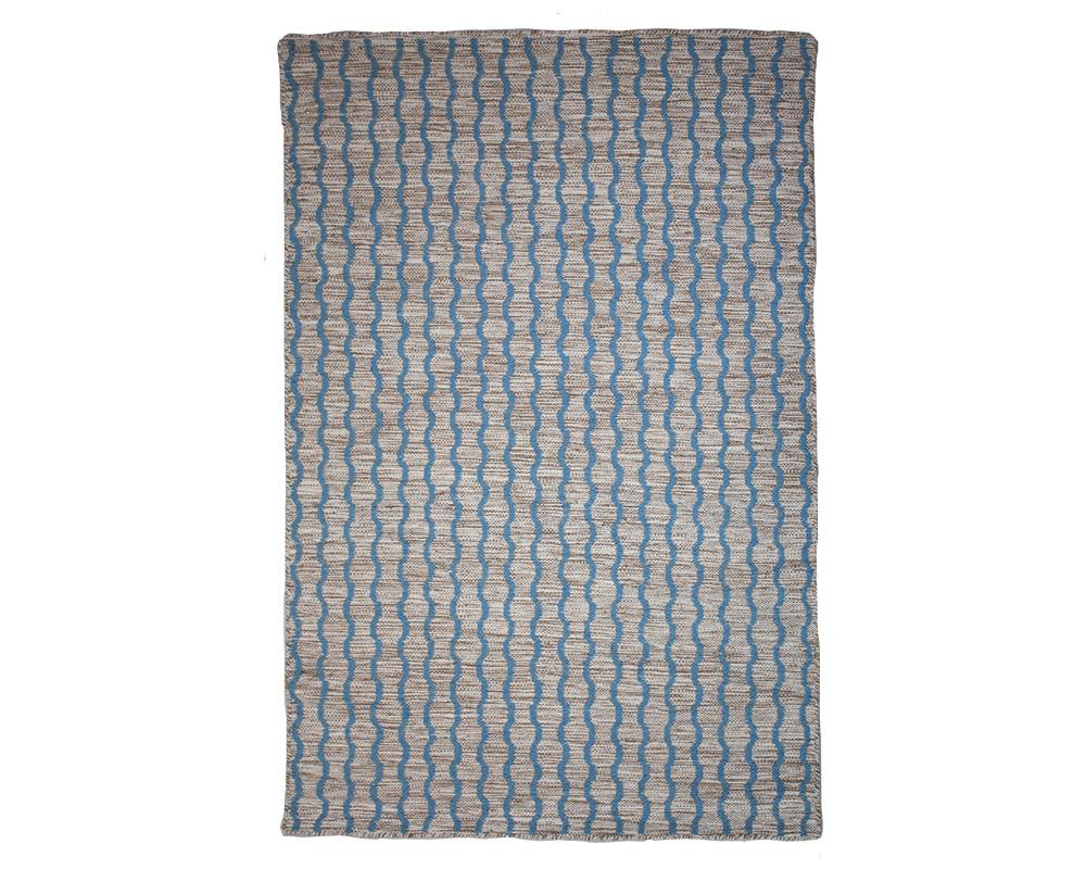 Lahar Wool Rug - Blue