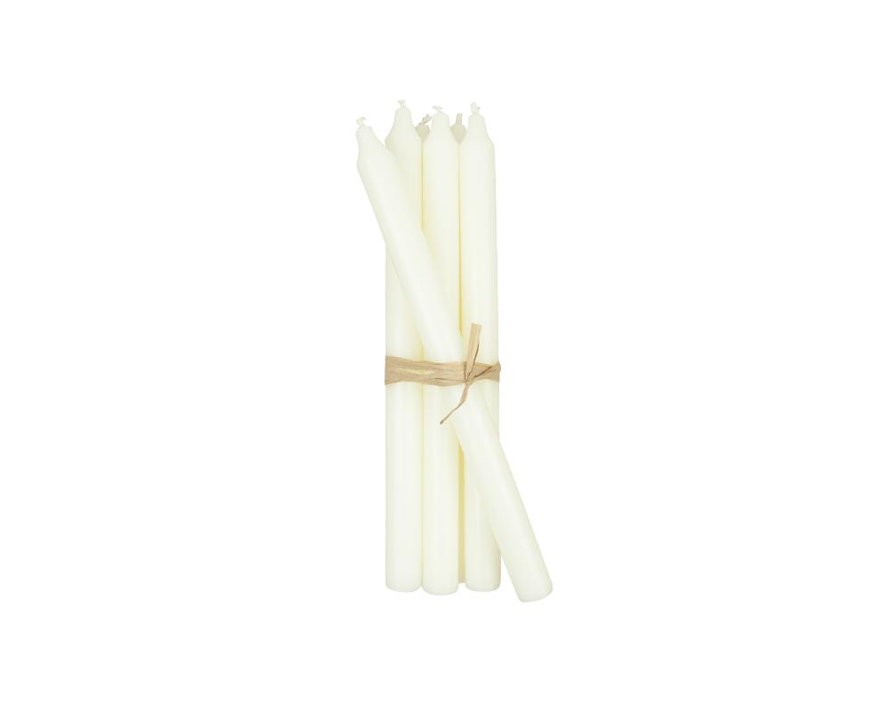 Set of 6 Candles - White