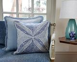 Staple Velvet Cushion - Sky
