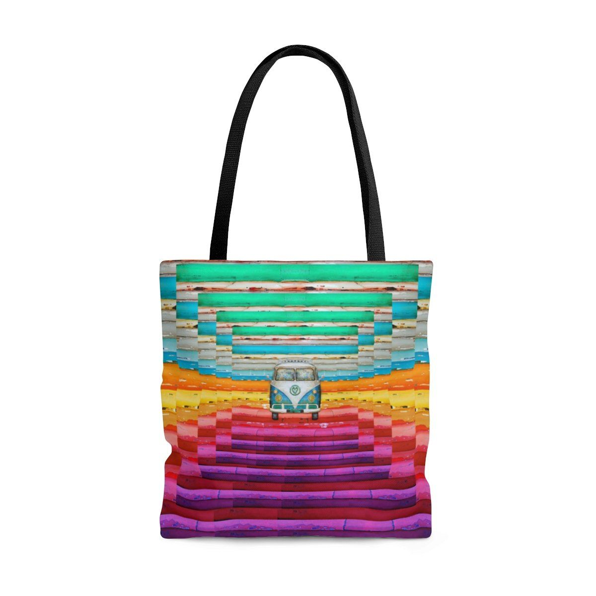 I Love Hippies Cotton Tote Bag