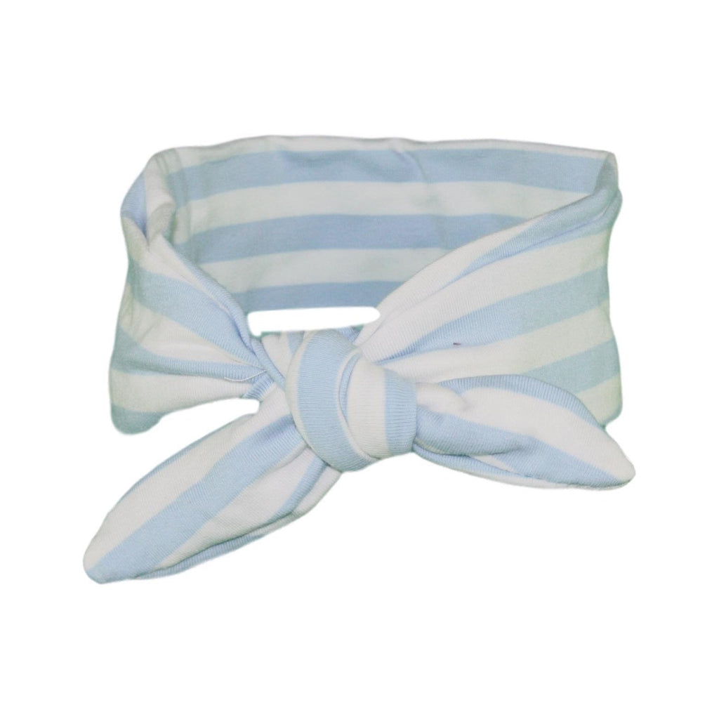 Baby Blue & White Stripey ages 4 - 11 and Mummy