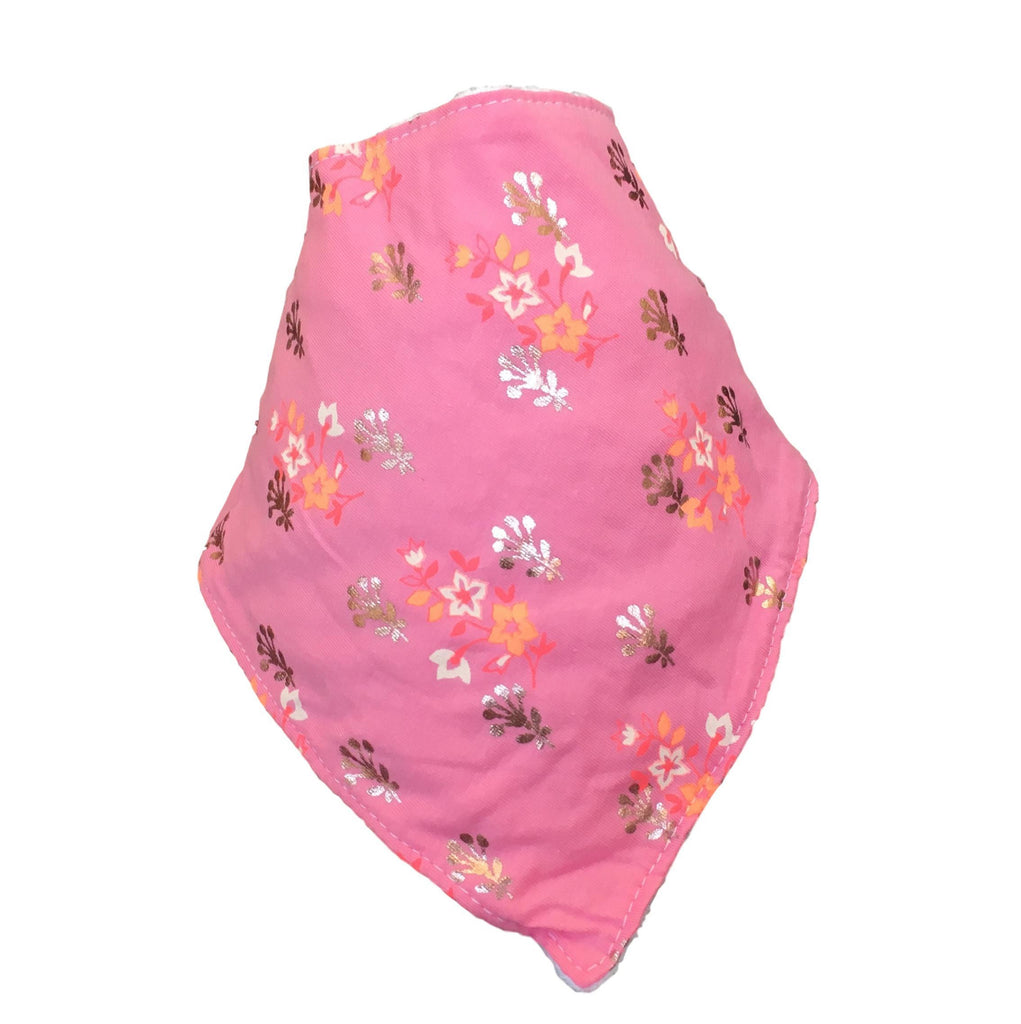 Hot Pink Flowers Bib LIMITED EDITION