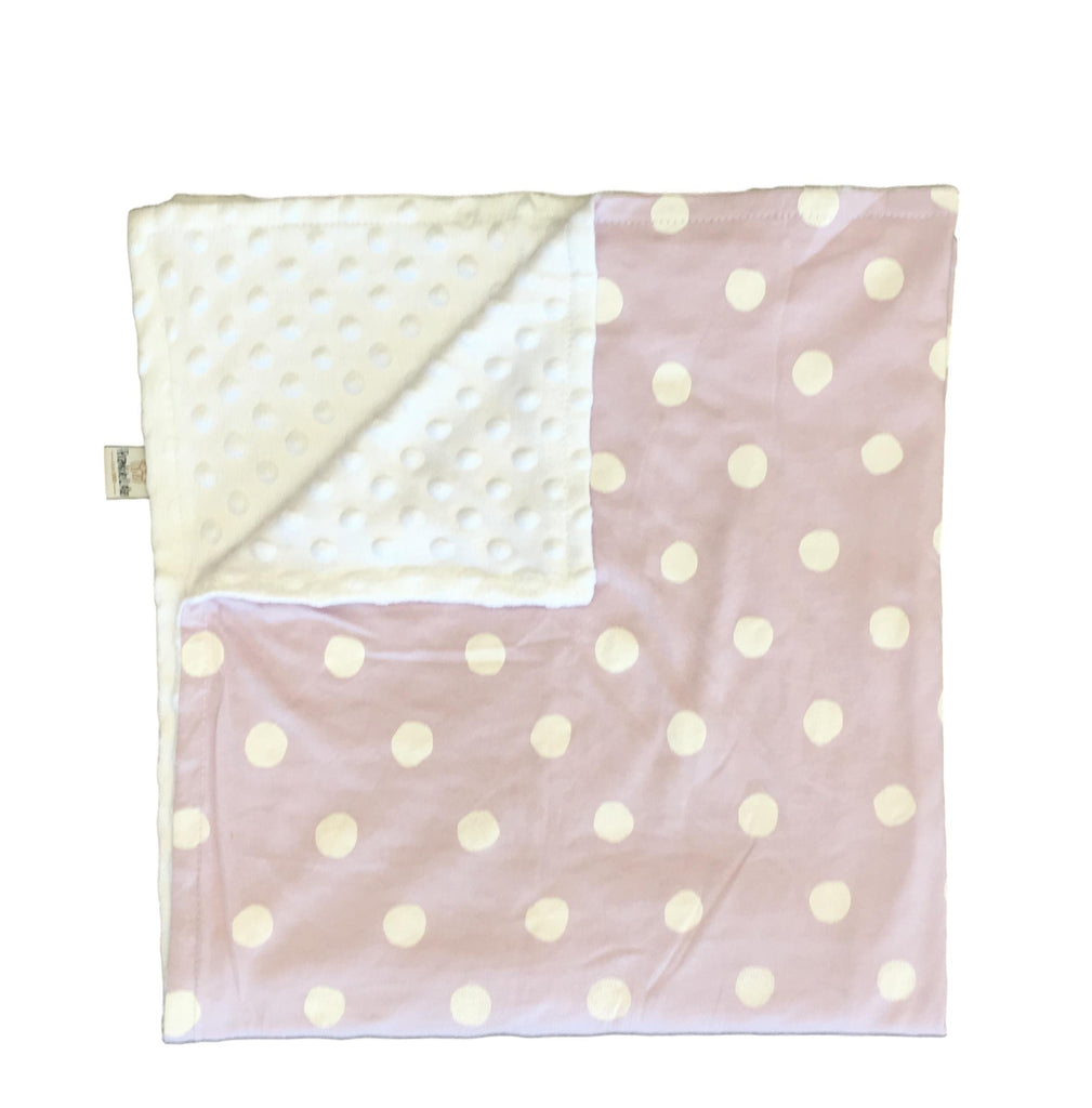 White Polka on Lilac Blanket LIMITED EDITION