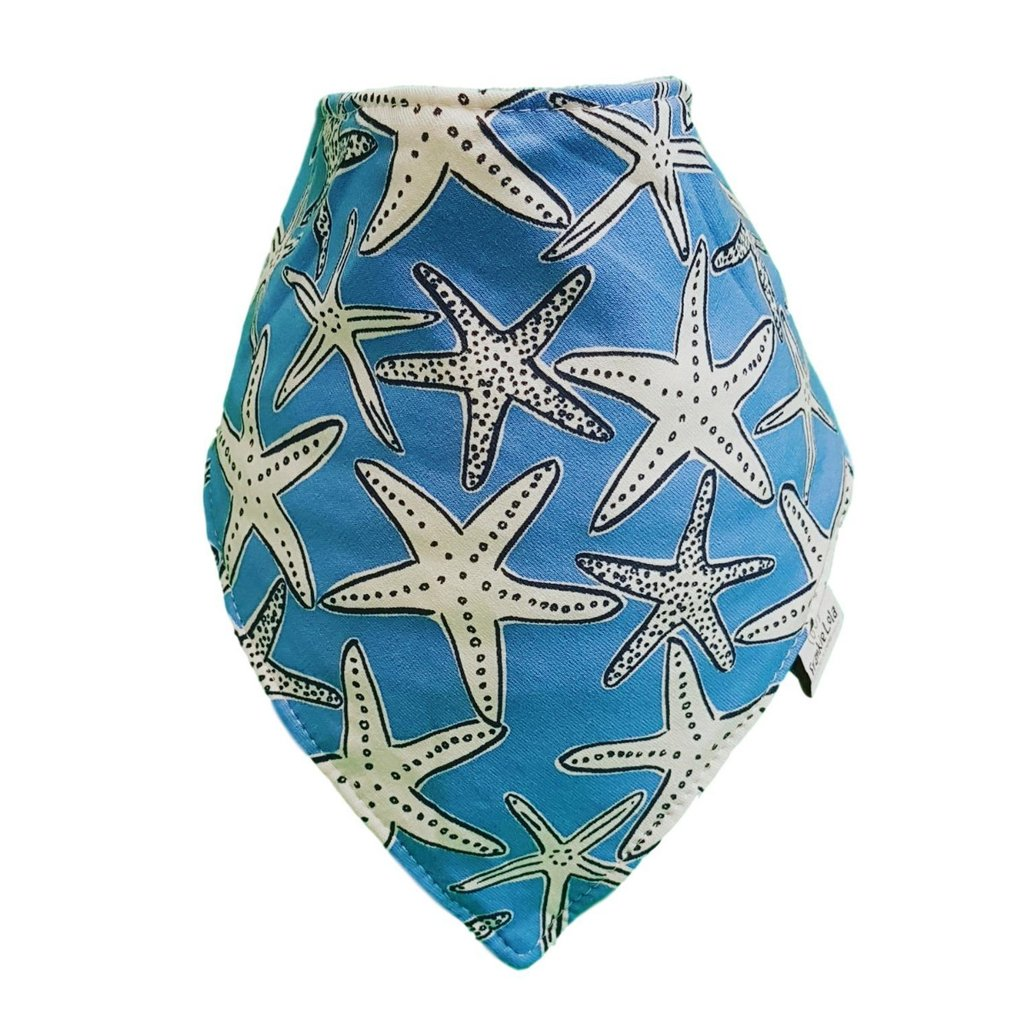 Blue Starfish Bib