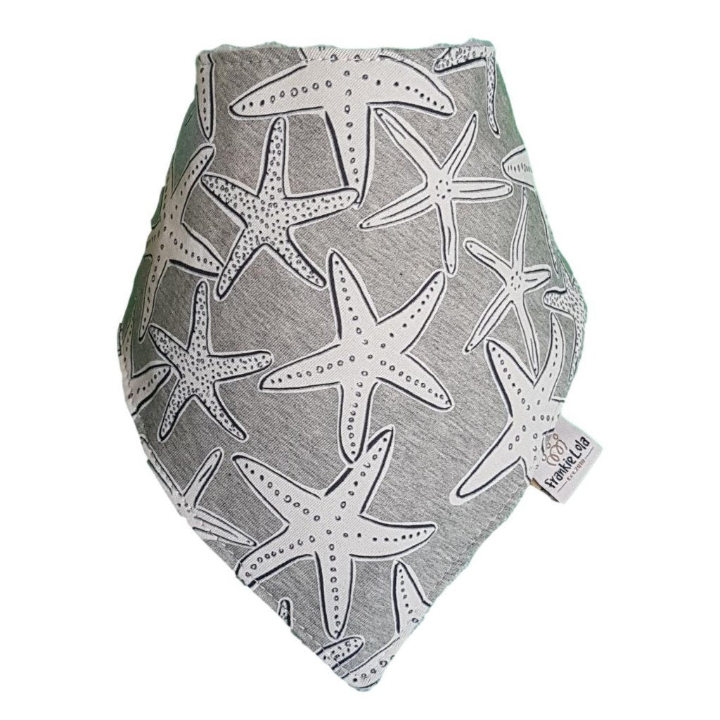 Grey Starfish Bib