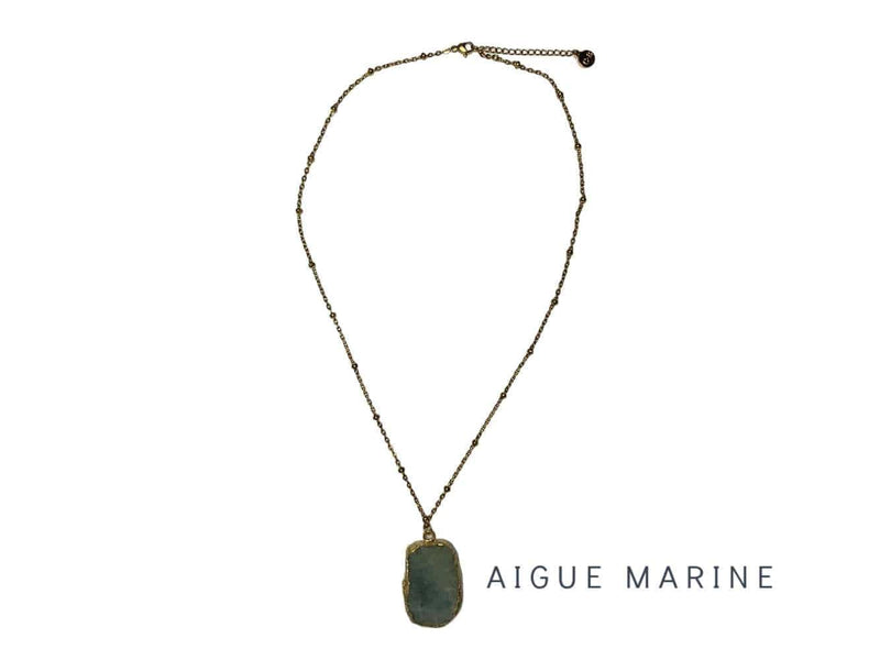 COLLIER ENERGY DORE (8 pierres au choix)