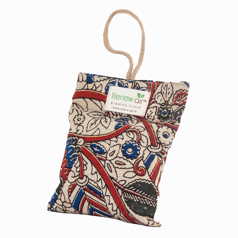 Renew Air Activated Charcoal Air Purifier Bag - Kalamkari - 100 gm