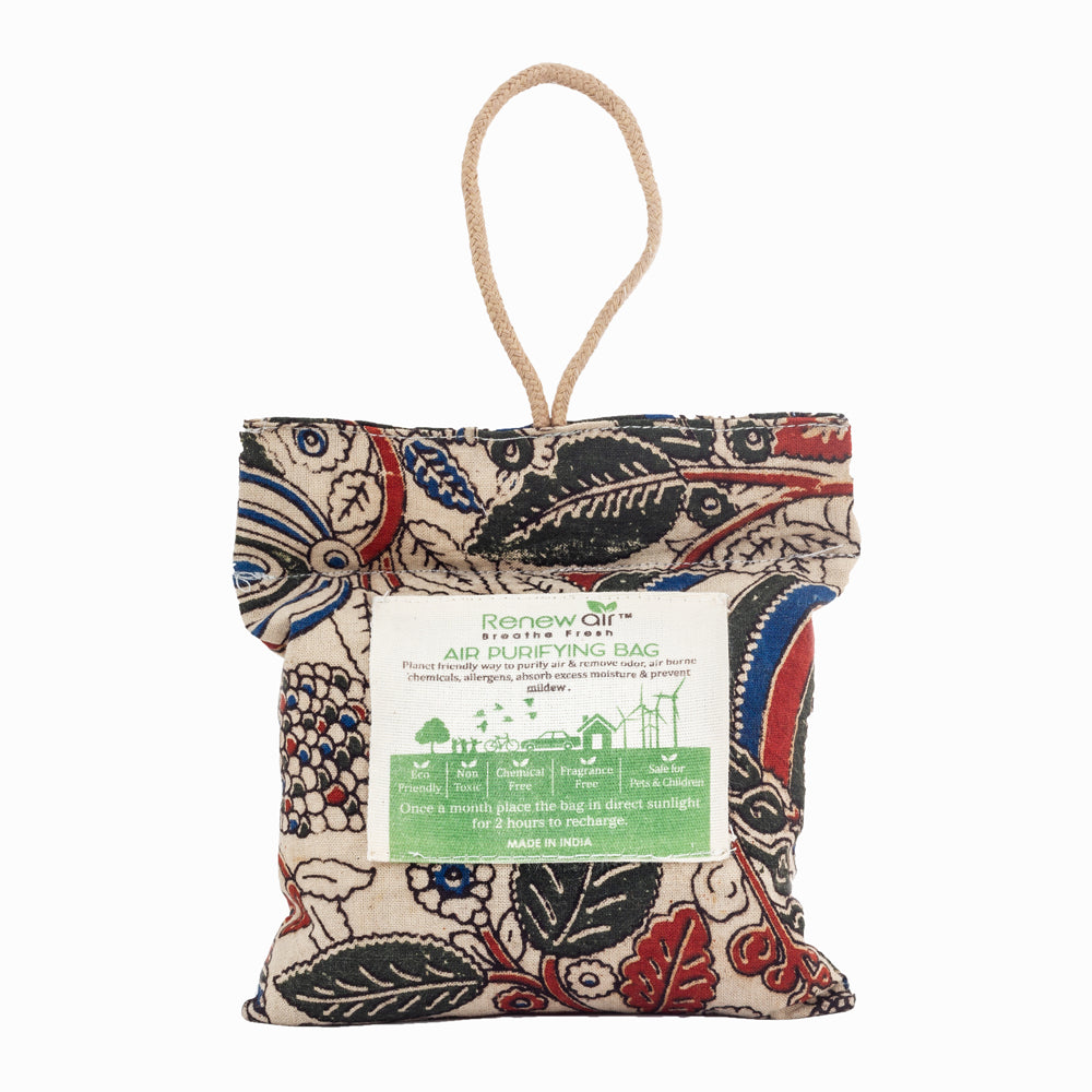 Kalamkari Charcoal Air Purifier Bag Renew Air 200 gm