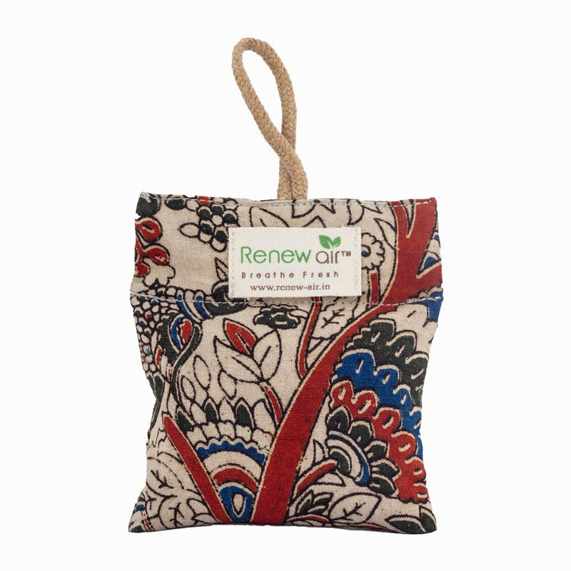 Kalamkari Charcoal Air Purifier Bag Renew Air 50 gm Set of 2
