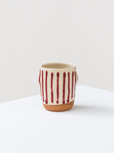 Mug with painted lines