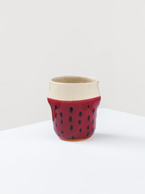 Mug with painted pois