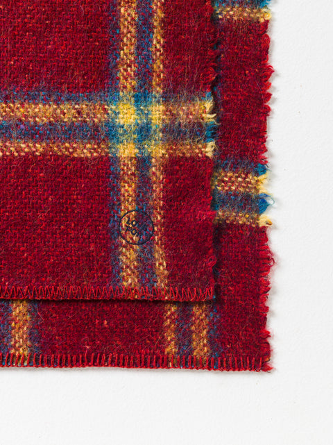 Blanket with scottish squares