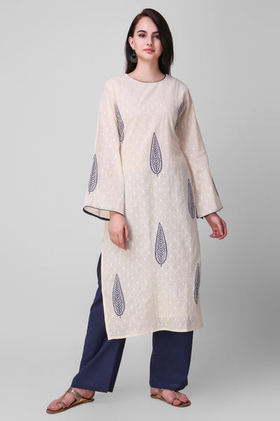Blue Cotton Palazo - label shreya gupta
