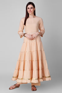 Beige Cotton Palazo - label shreya gupta