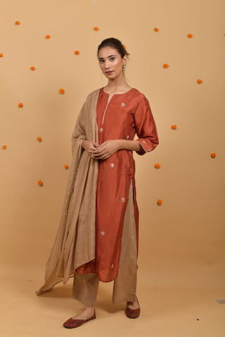 Beige Cotton Palazo