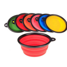 Collabsible Travel Silicone Dog Bowl