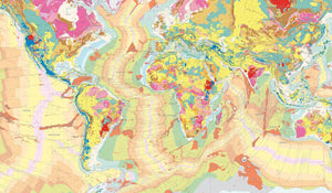 Geological map wallpaper