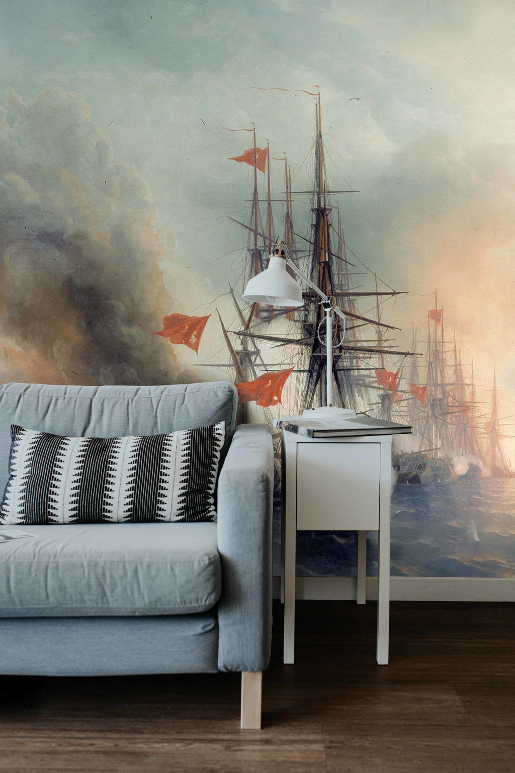 Battleship wallpaper, Old print mural, Renaissance print,  sticker wall, Renaissance wall art, Renaissance wall decal, wall, large wall art