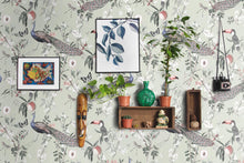 Paradisiac Wallpaper, Chinoiserie wallpaper, vintage wallpaper, asian wallpaper