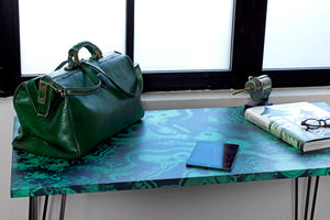 Green Malachite Dining Table - Desk