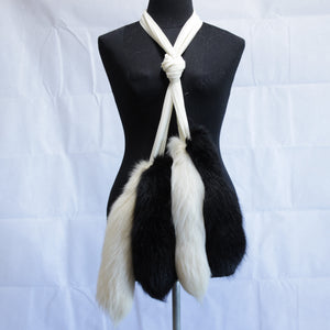 FOX TAIL CHIFFON WRAP